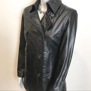 GAP 100% Genuine Vintage Leather Trench Coat
